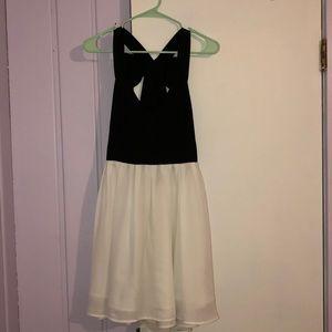 White/Black Mini Dress